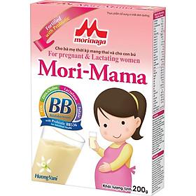 Sữa bầu Morinaga Mori-Mama dành cho phụ nữ thời kỳ mang thai và cho con bú - hương vani 200gr