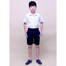 Quần short học sinh lưng thun đi học cho bé từ 18kg đến 45kg