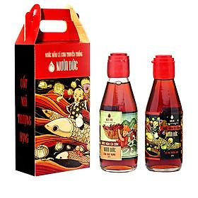 Hình đại diện sản phẩm Combo 2 chai cốt nhĩ thượng hạng Mười Đức 200ml và Hảo hạng Mười Đức 200ml