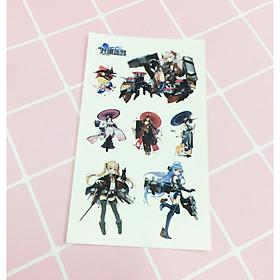 Set 5 Bảng hình xăm Kantai Collection Sticker Tattoo