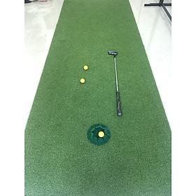 Thảm tập golf putting 250x50cm (kèm lỗ golf)