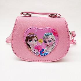 Hình đại diện sản phẩm Túi xách đeo chéo và xách tay kiểu nhũ hình công chúa Elsa Anna cho bé - Tui205