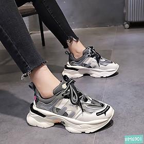 Giày Thể Thao Nam Nữ Cặp Cao 6cm MINSU M6901, Giày Đôi Nam Nữ Sneaker Độn Đế Tăng Chiều Cao Hàn Quốc Dành Cho Các Cặp Đôi Đi Chơi
