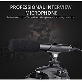 Professional Interview Microphone Photography Shotgun Mic Video Camcorders Mike for Canon/Nikon/Sony DSLR Camera