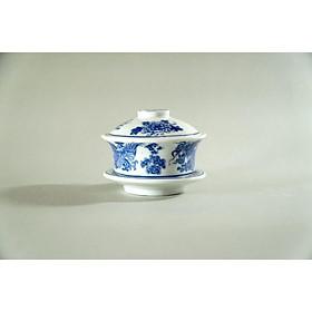Bát trà ly nước thờ cúng gốm sứ Long Loan Bát Tràng đôi Rồng bay Phượng múa đi kèm Đế và Nắp - Nhiều cỡ