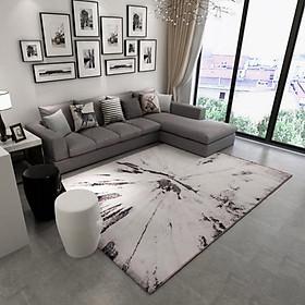 Thảm Trang Trí Phòng Khách Và Sofa Lông Ngắn BA007 - Blue Art