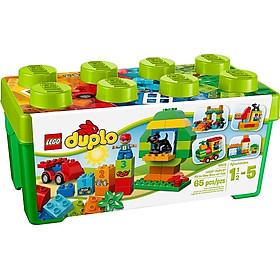 Mô Hình LEGO Thùng Gạch Xanh DUPLO Vui Nhộn (65 Mảnh Ghép) - 10572