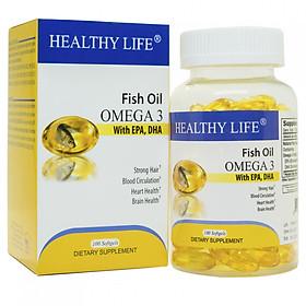 Thực Phẩm Chức Năng bổ sung vitamin và omega Healthy Life Fish Oil Omega3 (100 viên/hộp)