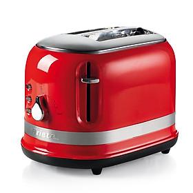 Nướng bánh mì 2 ngăn (Màu đỏ) Modernia - 815W- Hàng Chính Hãng