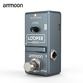 ammoon AP-09 Nano Loop Electric Guitar Effect Pedal Looper True Bypass Unlimited Overdubs 10 Minutes Recording with USB