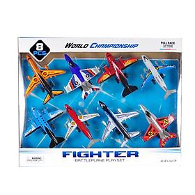 Bộ đồ chơi máy bay KAVY cho bé gồm 8 chiếc chạy cót nhựa nguyên sinh an toàn chi tiết sắc sảo