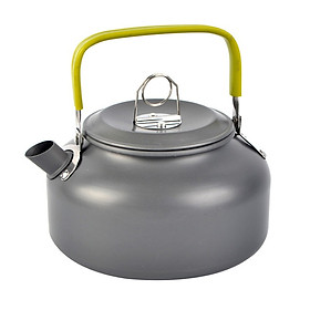 Camping Kettle Coffee Pot Aluminum Outdoor Hiking Kettle Camp Tea Kettle Portable Teapot Compact Lightweight With Silicon Handle