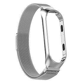 Stainless Steel Replacement Band Fitness Sports Activity Bracelet Wristband for Xiaomi Mi Band 3,Mi Band 4
