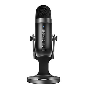 USB Condenser Microphone for Computer with Noise Cancelling/Mute Button USB Desktop Mic with Stand PC Microphone Mic