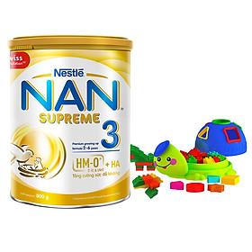 Sữa Bột Nestlé NAN SUPREME 3 800g - Công Thức Mới 2HMO - Tặng Bộ Xếp Hình Xinh Xắn