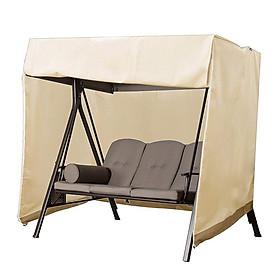 Swing Canopy Cover Bench Top Replacement Sun Shade Cover Waterproof Swing Canopy Cover Decor for Outdoor Garden Patio