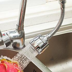 Nối vòi nước bồn rửa bát xoay 360 độ + Tặng 4 móc dính chịu lực 10kg
