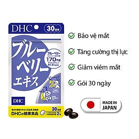Viên uống bổ mắt việt quất DHC Nhật Bản thực phẩm chức năng tăng cường thị lực nuôi dưỡng đôi mắt khỏe mạnh gói 30 ngày JN-DHC-BLU30