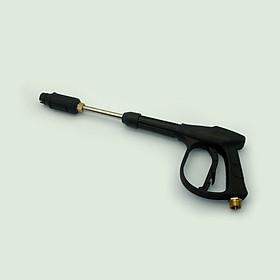 Súng xịt rửa cao áp 3000psi mỏ vịt chỉnh tia dài 46cm ren to M22, có thể tháo khớp nòng thành súng ngắn