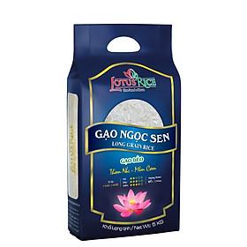 Gạo Ngọc Sen Lotus Rice 5kg - Cơm mềm dẻo ít - Chuẩn xuất khẩu