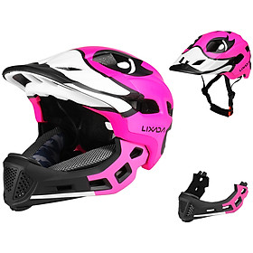 Lixada Kids Detachable Full Face Helmet Children Sports Safety Helmet for Cycling Skateboarding Roller Skating