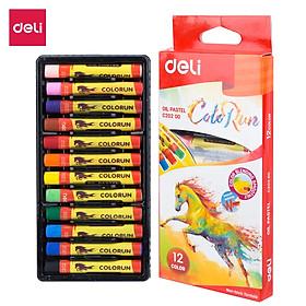 Bút sáp dầu Deli - 12 màu/18 màu - 1 Hộp - EC20200/EC20210
