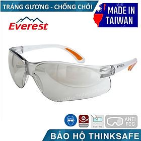 Kính bảo hộ Everest EV203 kính chống bụi, chống trầy xước, chống tia UV, chống đọng sương (trắng tráng bạc)