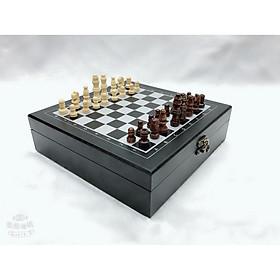 Bộ cờ vua bằng gỗ cao cấp 4 trong 1 - Hàng xuất Châu Âu và Mỹ