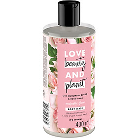 Sữa Tắm Làm Sáng Da Love Beauty And Planet Majectic Glow 400ml