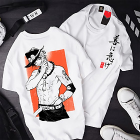 Áo One Piece Ace ATT-01, Áo thun Anime Manga One Piece Portgas D. Ace Unisex Nam Nữ
