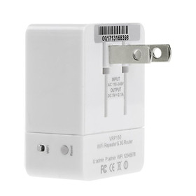 150Mbps VRP150 Mini WiFi Repeater 802.11b/g/n 3G Wireless Router 2.1A Charger 3 in 1