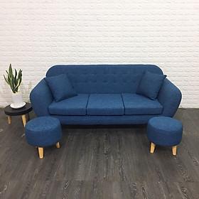Sofa băng chung cư 1.8m (xanh)+ 2 đôn tặng 2 gối trang trí