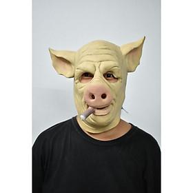 Mặt nạ hóa trang Halloween con lợn hút thuốc