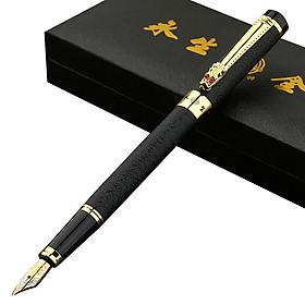 Bút máy, bút kí Hắc Long Thủ, bút máy kí tên cao cấp ngòi 0.5mm - Tặng hộp