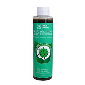 Nước súc miệng dược liệu Rona CoCayHoaLa - Không cồn - Khử mùi - Kháng Khuẩn - Ngăn ngừa vi khuẩn có hại  - Mẹ bầu và trẻ nhỏ dùng được, chai 150ml - Hàng chính hãng