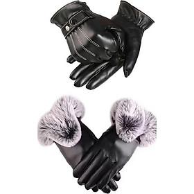 Combo găng tay nam nữ thời trang chống nước cảm ứng điện thoại