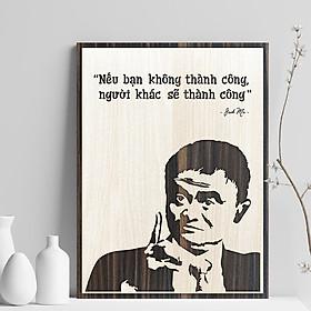 """️️Tranh treo tường tạo động lực câu nói hay của Jack Ma TBIG042 """"nếu bạn không thành công, người khác sẽ thành công"""""""