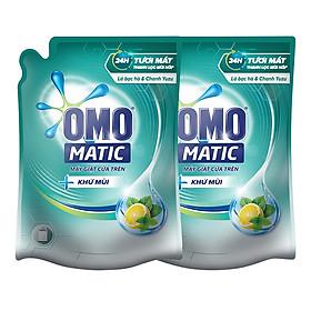 Combo 2 Túi Nước Giặt OMO Matic Khử Mùi Tinh Chất Bạc Hà Và Chanh Yuzu (2.3kg/Túi)