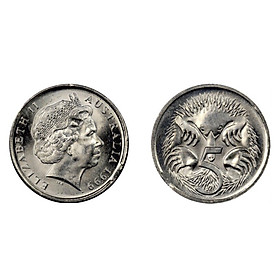 Xu thế giới Australia 5 cent Nữ hoàng Elizabeth II