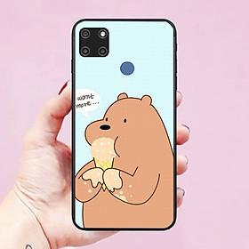 Ốp lưng điện thoại dành cho Realme C12 hình Chú Gấu Dễ Thương