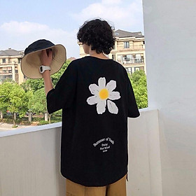 2 Color【M-3XL】Summer New Style Fashion Flowers Printed Graphic Short Sleeve T-shirt Men Breathable Unisex Half Sleeve T-shirt Oversize Student Short T-shirt Couple Wear