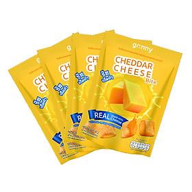 Combo 4 gói Bánh snack Ngũ Cốc Grinny nhân Phô Mai - Cheddar Cheese