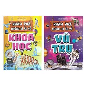 Combo Bộ sách Khám Phá Thế Giới Dành Cho Thanh - Thiếu Niên: Khám Phá Bí Ẩn Về Khoa Học + Khám Phá Bí Ẩn Về Vũ Trụ (Bộ 2 Cuốn - Tặng Kèm Bookmark Happy Life)