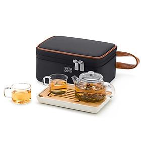 Bộ bình trà thủy tinh Samadoyo L009 180ml