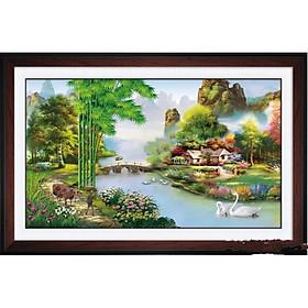 Tranh đính đá Phong Cảnh (80*50cm) chưa đính