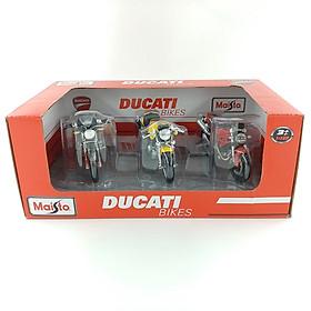 Mô Hình Bộ 3 Xe Mô Tô 1:18 Ducati MT32039