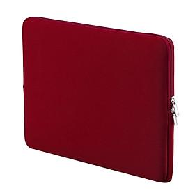 Túi Chống Sốc Vải Mềm Kéo Khóa Cho Ultrabook/Laptop/Notebook 14 Inch - Đỏ