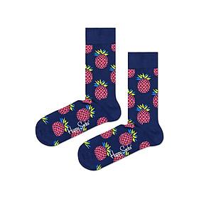 Vớ Unisex Happy Socks Pineapple - 7333102028430 - Mẫu Ngẫu Nhiên (Free Size)