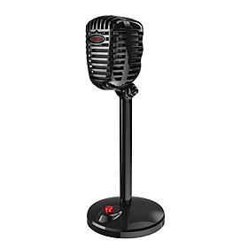 Microphone Retro Có Dây Dành Cho PC Máy Tính JIES Đen (3.5mm)