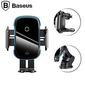 Giá đỡ điện thoại kiêm sạc không dây gắp taplo, cửa gió điều hòa ô tô Baseus WXHW03 - Hàng Nhập Khẩu